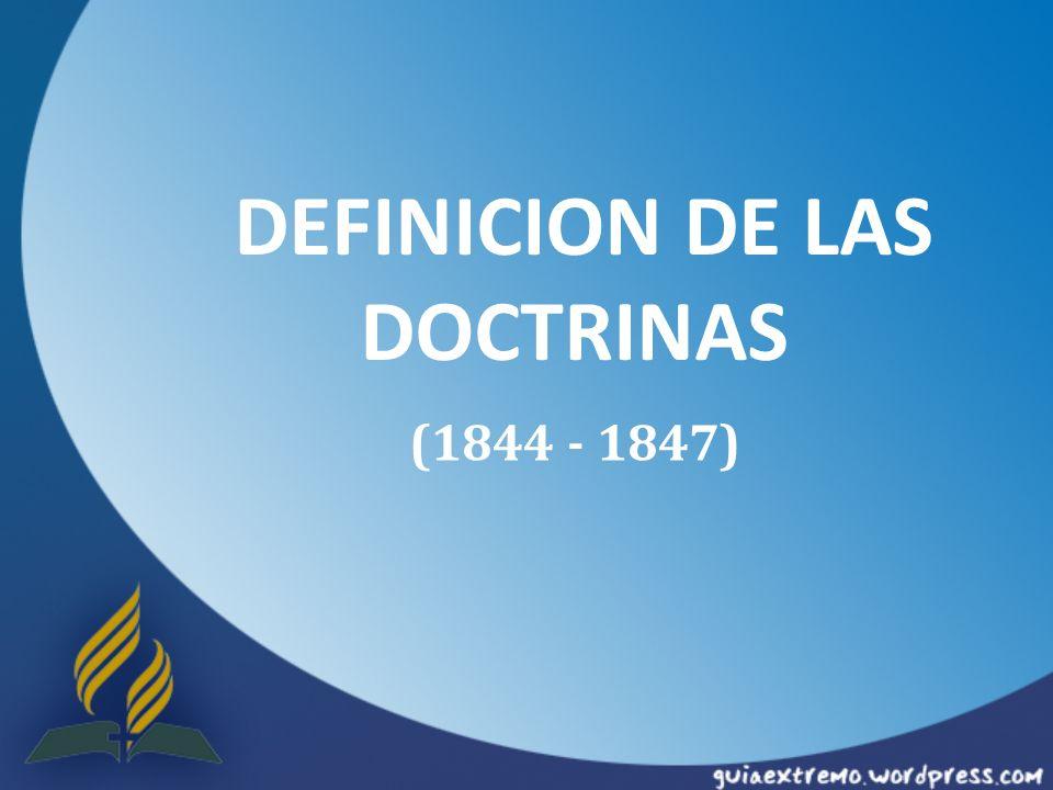 DEFINICION DE LAS DOCTRINAS