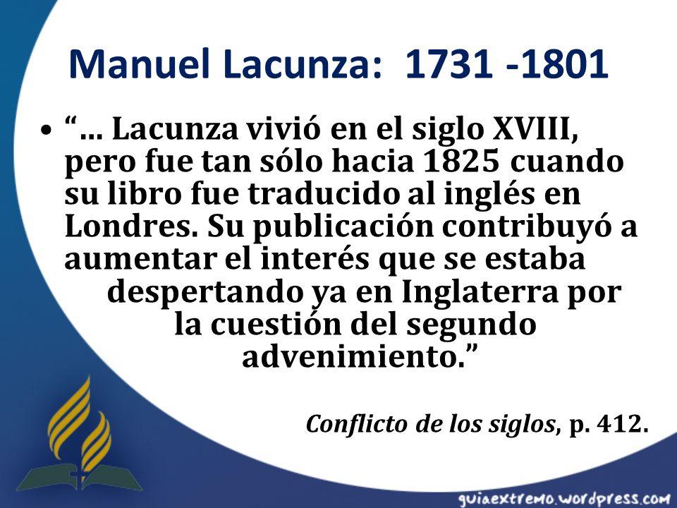 Manuel Lacunza: 1731 -1801