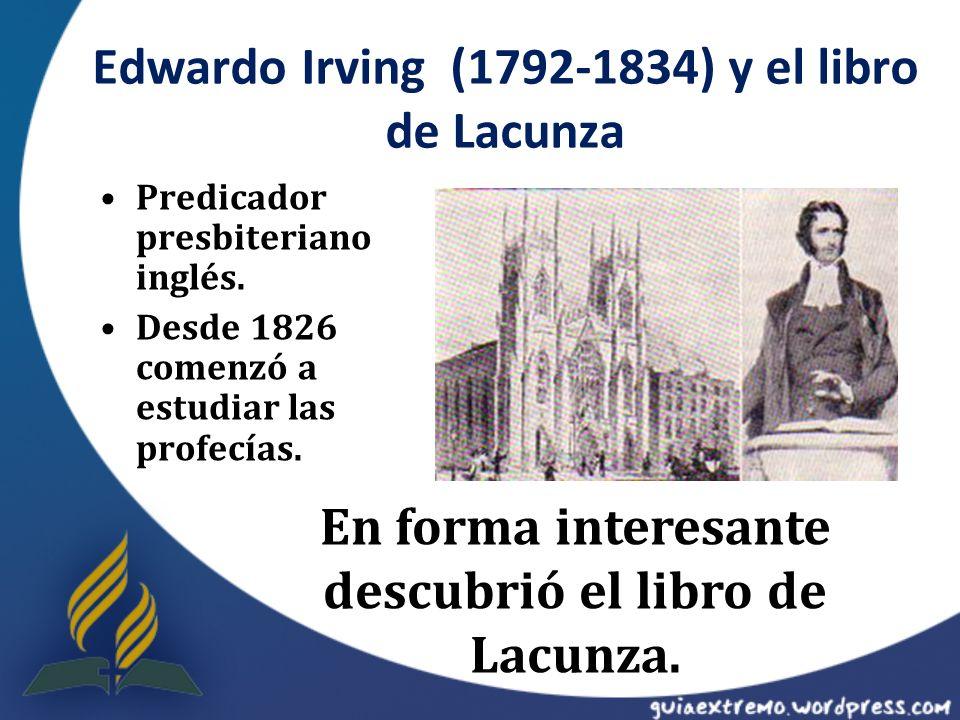 Edwardo Irving (1792-1834) y el libro de Lacunza