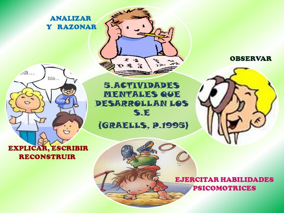 5.ACTIVIDADES MENTALES QUE DESARROLLAN LOS S.E