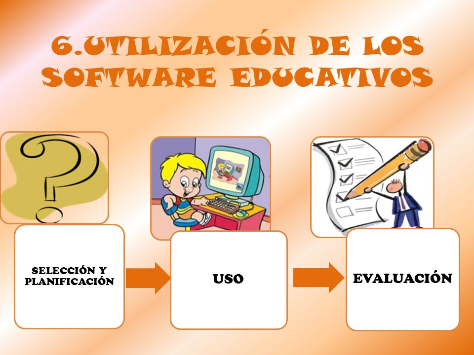 6.UTILIZACIÓN DE LOS SOFTWARE EDUCATIVOS