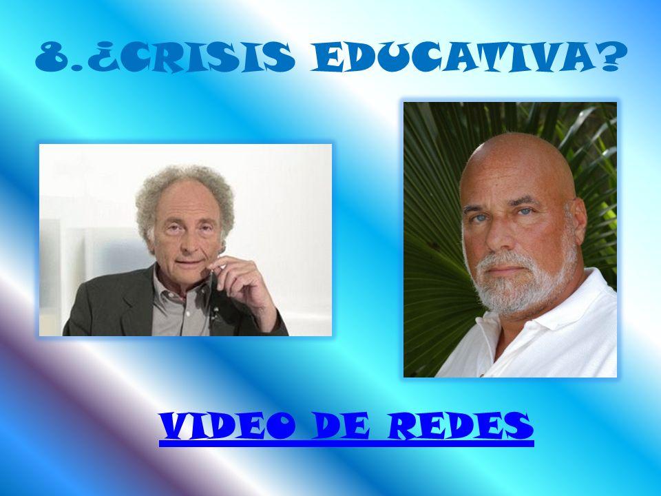 8.¿CRISIS EDUCATIVA VIDEO DE REDES