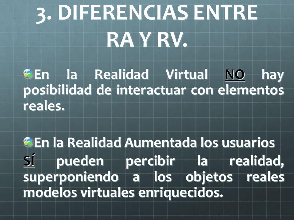 3. DIFERENCIAS ENTRE RA Y RV.