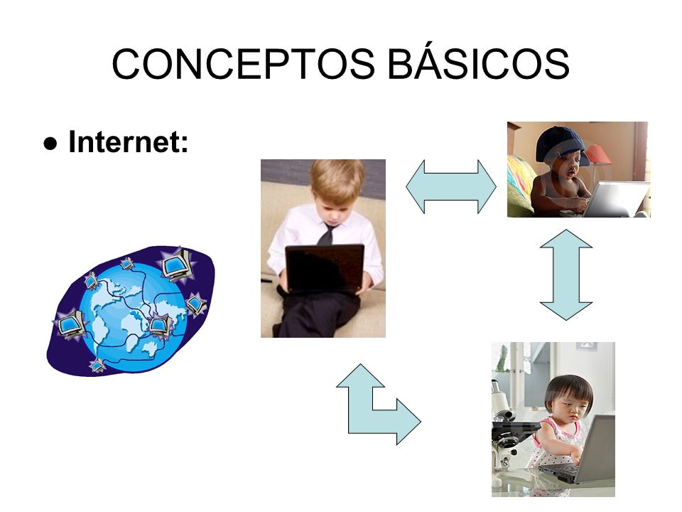 CONCEPTOS BÁSICOS ● Internet:
