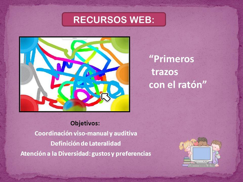 Primeros trazos con el ratón RECURSOS WEB: Objetivos: