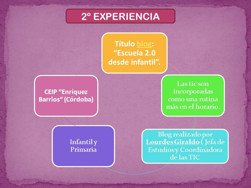 2º EXPERIENCIA Título blog: Escuela 2.0 desde infantil .