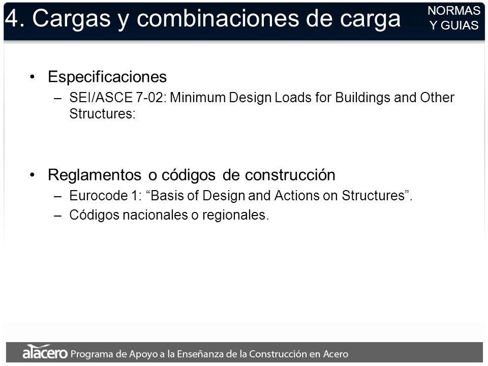 4. Cargas y combinaciones de carga