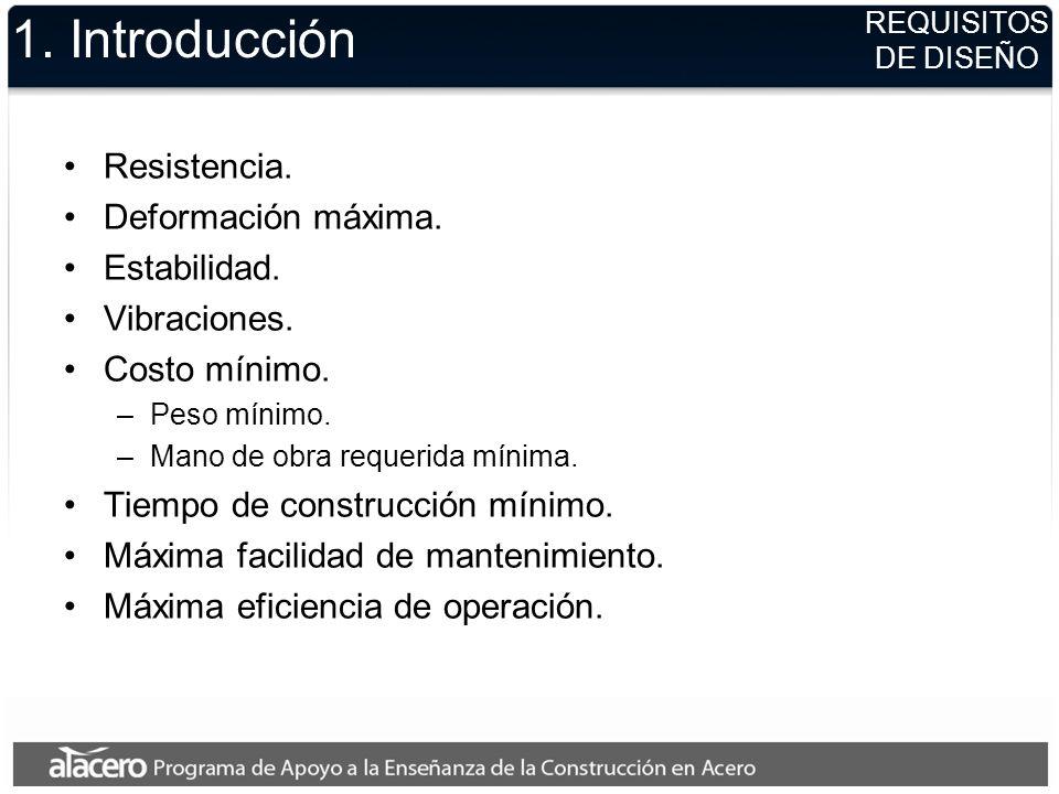 1. Introducción Resistencia. Deformación máxima. Estabilidad.