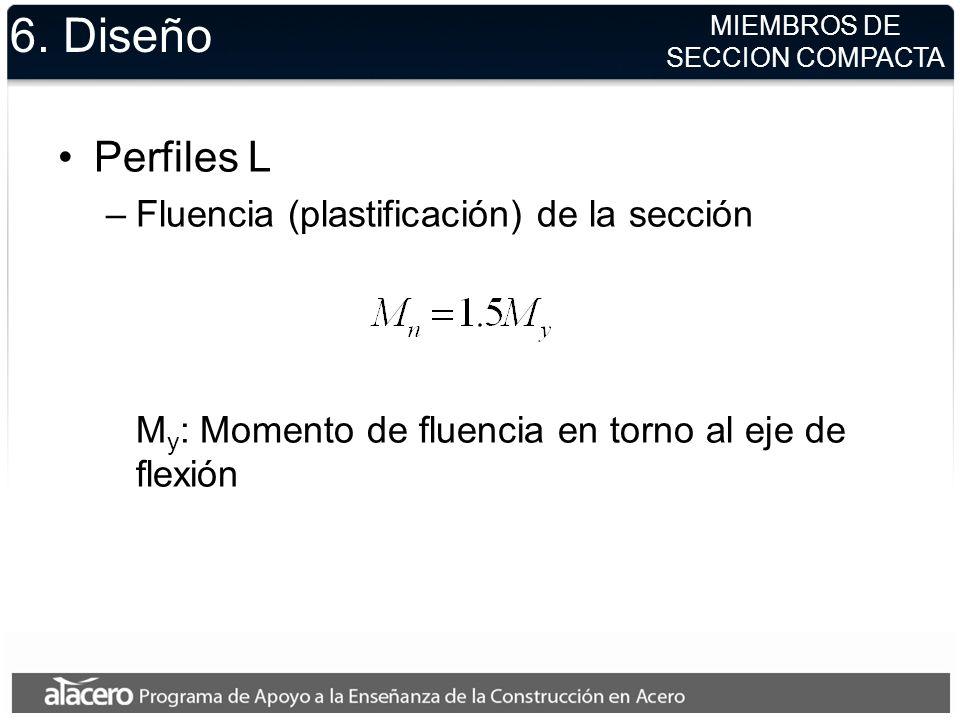 6. Diseño Perfiles L Fluencia (plastificación) de la sección