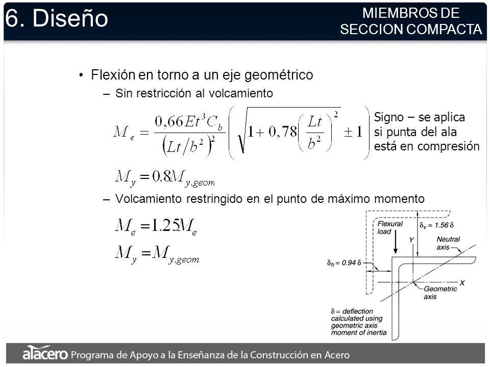 6. Diseño MIEMBROS DE SECCION COMPACTA