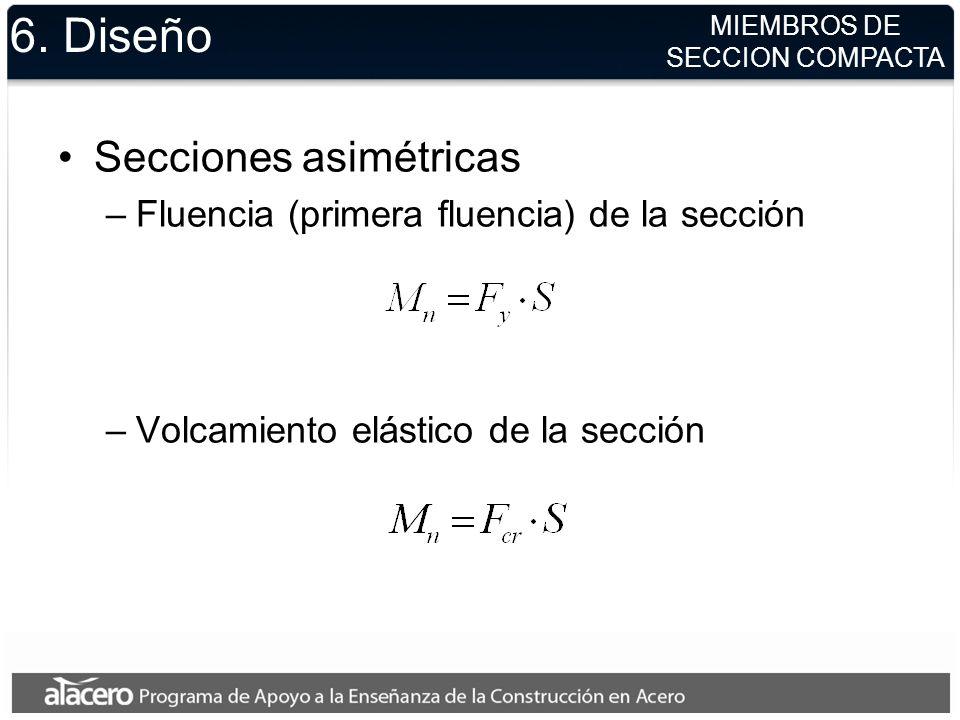6. Diseño Secciones asimétricas