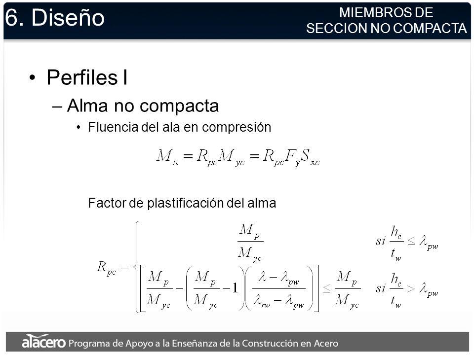 6. Diseño Perfiles I Alma no compacta MIEMBROS DE SECCION NO COMPACTA