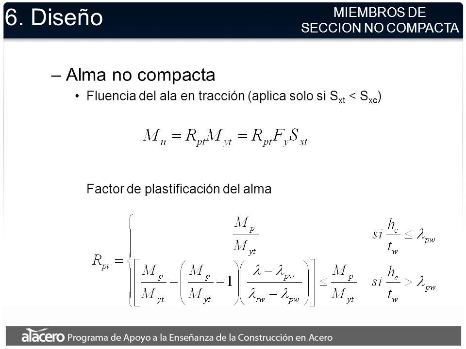 6. Diseño Alma no compacta MIEMBROS DE SECCION NO COMPACTA