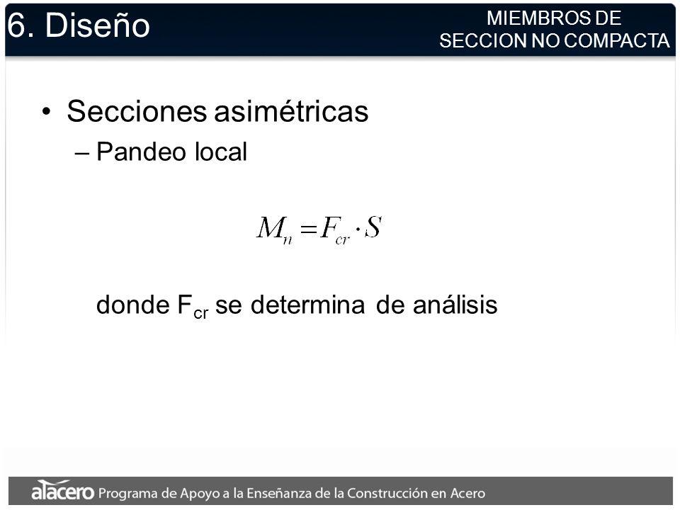 6. Diseño Secciones asimétricas Pandeo local