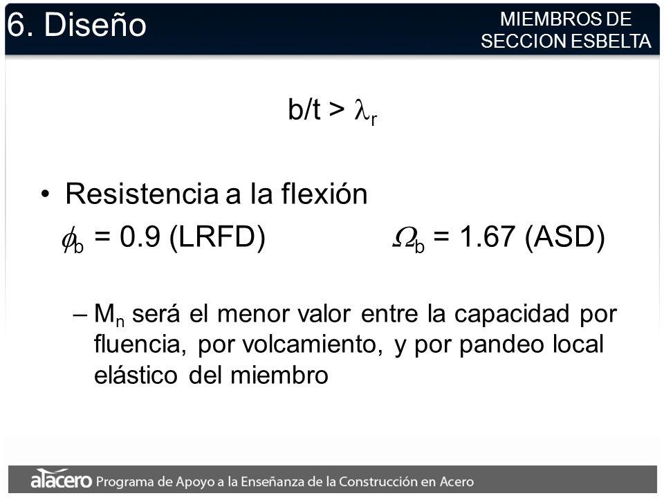 6. Diseño b/t > lr Resistencia a la flexión