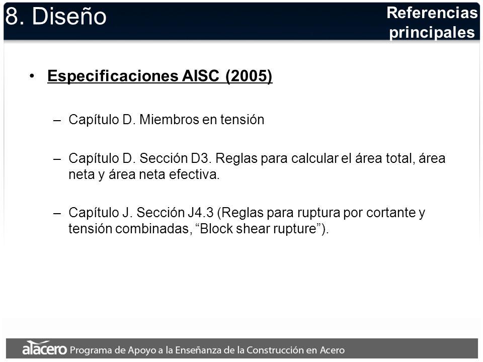 8. Diseño Referencias principales Especificaciones AISC (2005)