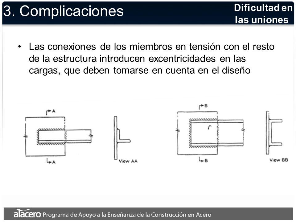 3. Complicaciones Dificultad en las uniones