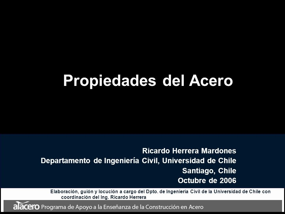 Propiedades del Acero Ricardo Herrera Mardones