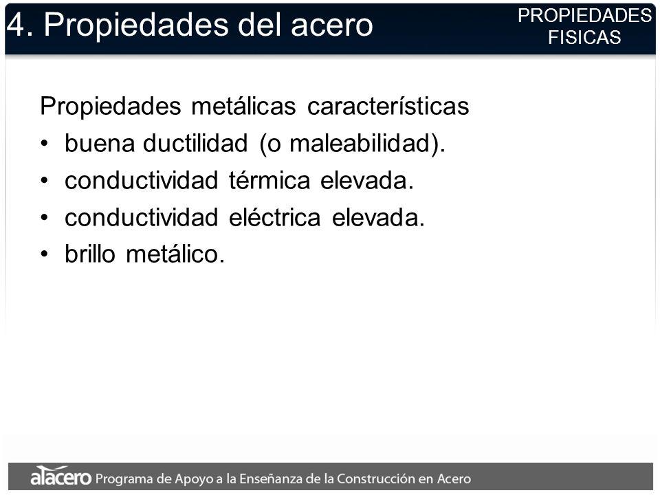 4. Propiedades del acero Propiedades metálicas características