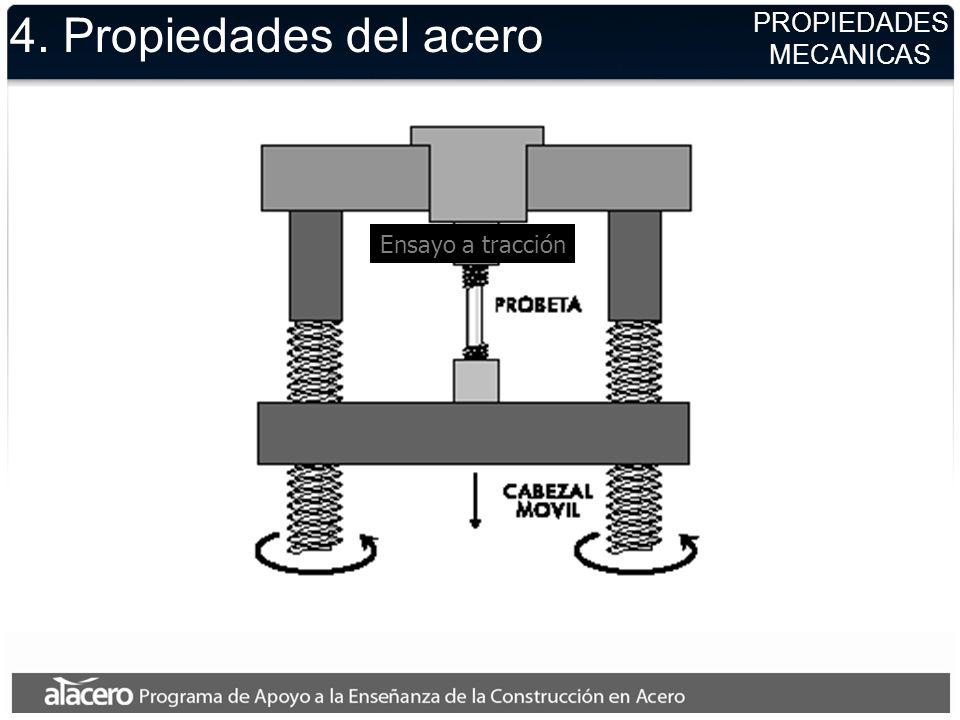 4. Propiedades del acero PROPIEDADES MECANICAS Ensayo a tracción
