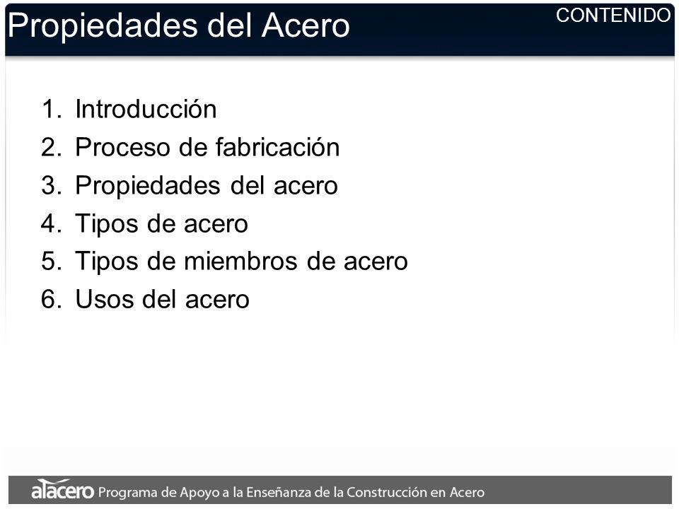 Propiedades del Acero Introducción Proceso de fabricación