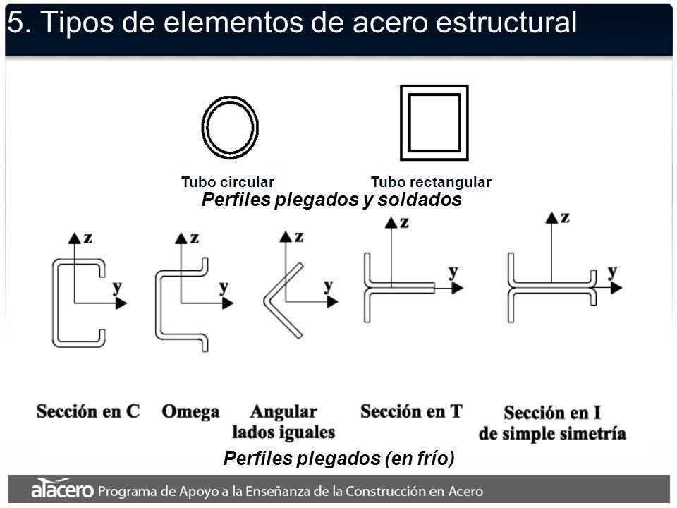 5. Tipos de elementos de acero estructural