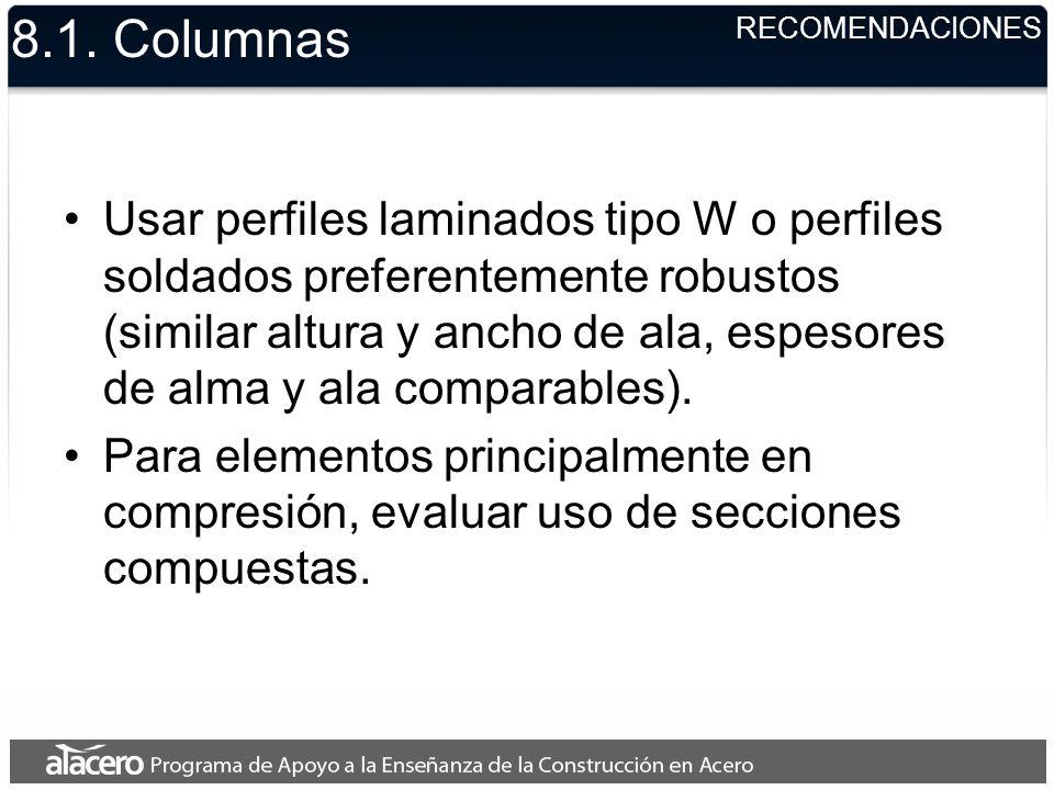 8.1. Columnas RECOMENDACIONES.