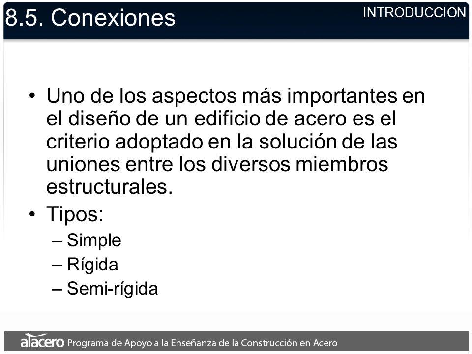 8.5. Conexiones INTRODUCCION.