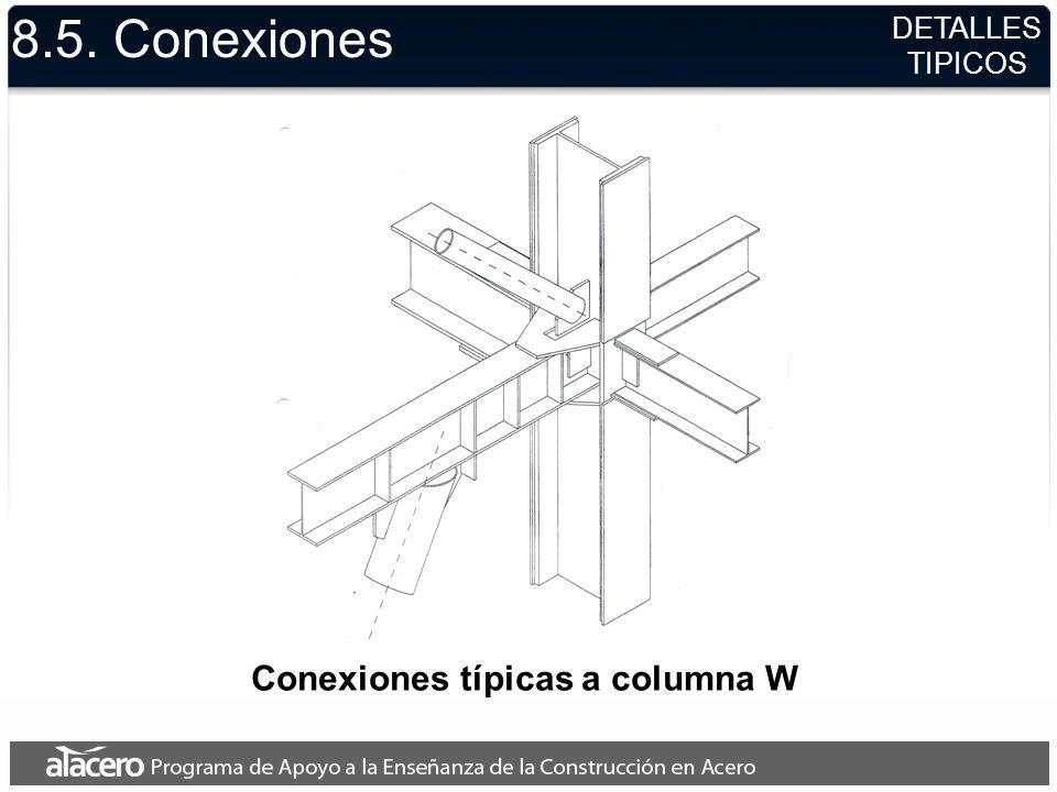 Conexiones típicas a columna W