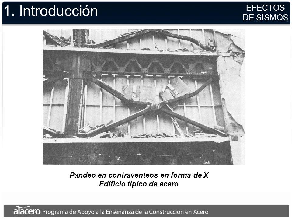 Pandeo en contraventeos en forma de X Edificio típico de acero