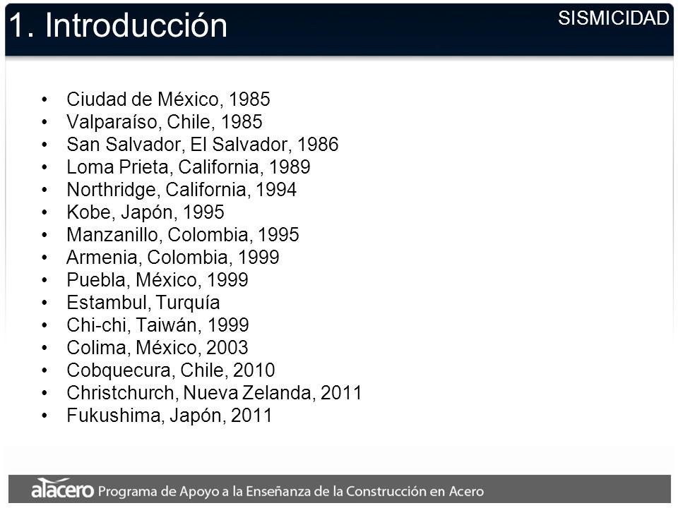 1. Introducción SISMICIDAD Ciudad de México, 1985