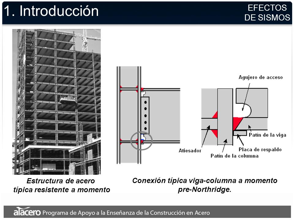 1. Introducción EFECTOS DE SISMOS Estructura de acero