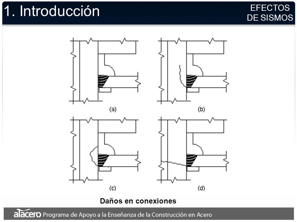 1. Introducción EFECTOS DE SISMOS Daños en conexiones