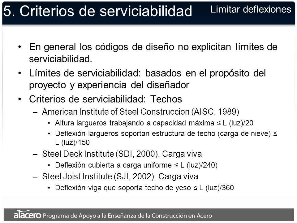 5. Criterios de serviciabilidad