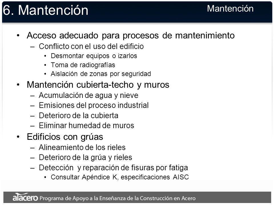 6. Mantención Mantención
