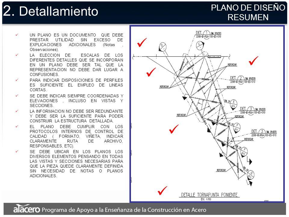 2. Detallamiento PLANO DE DISEÑO RESUMEN