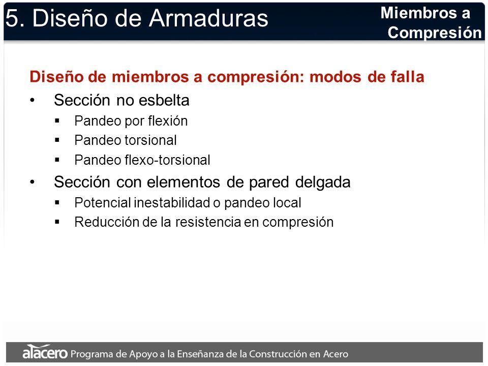 5. Diseño de Armaduras Miembros a Compresión