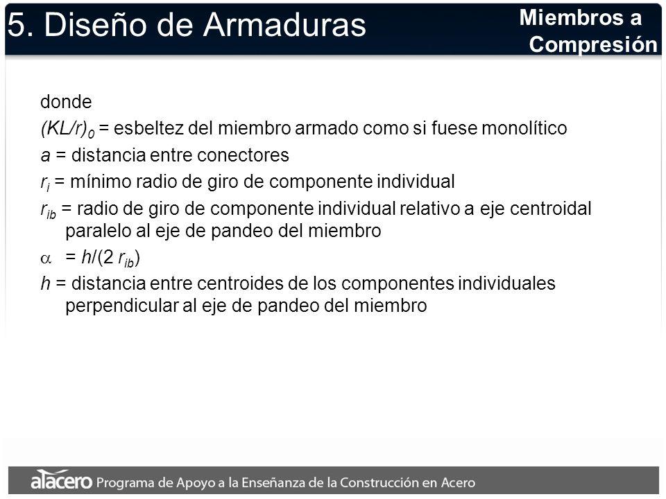5. Diseño de Armaduras Miembros a Compresión donde