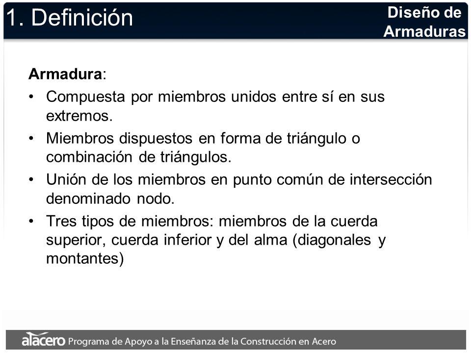 1. Definición Diseño de Armaduras Armadura: