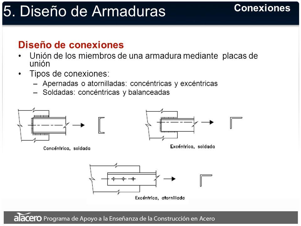 5. Diseño de Armaduras Conexiones Diseño de conexiones