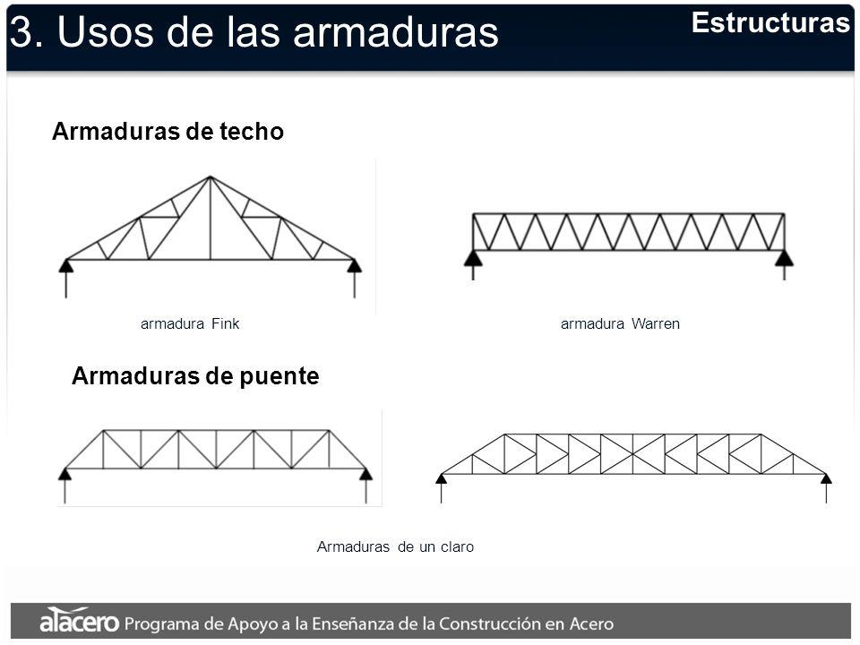 3. Usos de las armaduras Estructuras Armaduras de techo