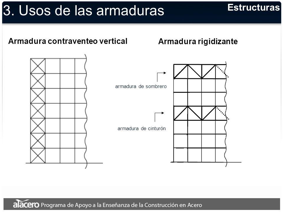 3. Usos de las armaduras Estructuras Armadura contraventeo vertical