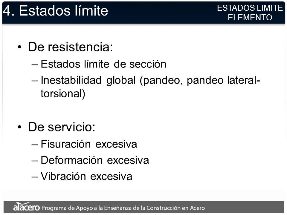 4. Estados límite De resistencia: De servicio: