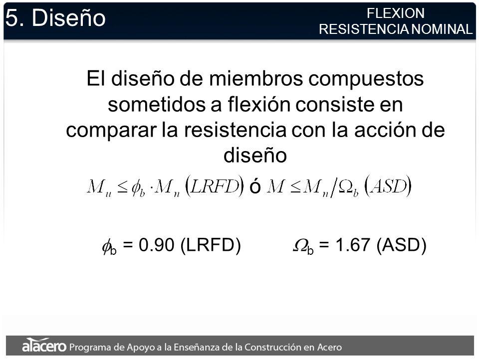 5. Diseño FLEXION. RESISTENCIA NOMINAL.