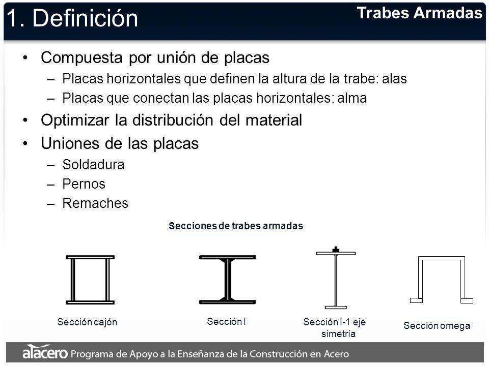 1. Definición Trabes Armadas Compuesta por unión de placas