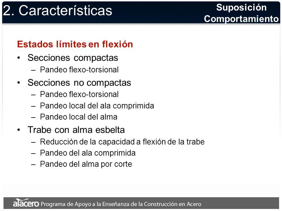 2. Características Suposición Comportamiento