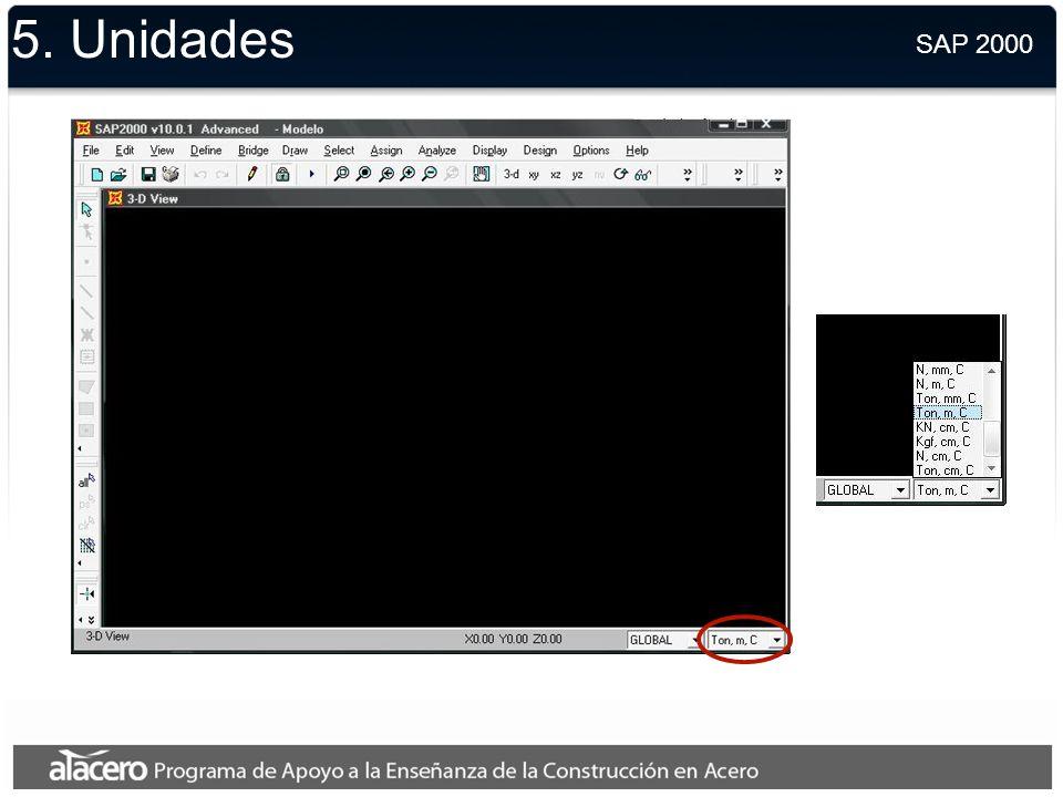 5. Unidades SAP 2000.