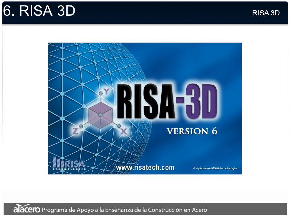 6. RISA 3D RISA 3D.