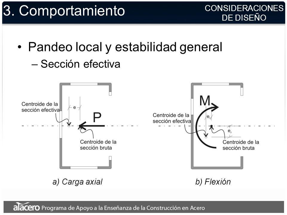 a) Carga axial b) Flexión