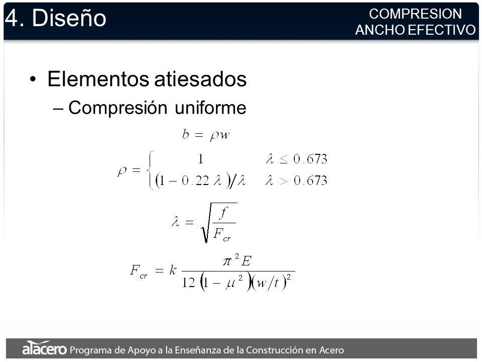 4. Diseño Elementos atiesados Compresión uniforme COMPRESION